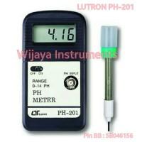 LUTRON PH-201 + ELECTRODE PE-03 PH METER DIGITAL