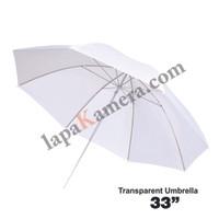 payung putih softbox transparan for flash / lampu studio