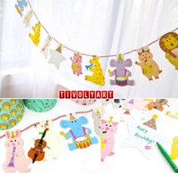 Banner Animal / Bunting Flag Ulang Tahun Animal
