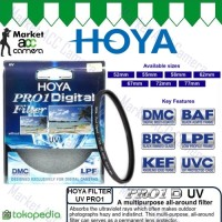 FILTER UV HOYA PRO1 52mm, 55mm, 58mm for Canon, Nikon, Sony Cameras