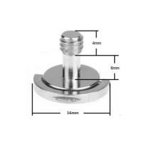 "Screw / Mur Lipat 1/4"" D-Ring untuk Plate Tripod Monopod Quick Release"
