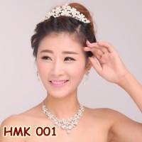 Paket Aksesoris Mahkota Kalung Pengantin l Perhiasan Pesta - HMK001