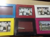 Bingkai photo duduk gantung/pigura foto/frame warna ukuran 3R/ album