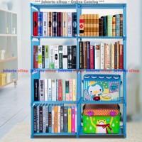 Rak Buku / Rak Portable / Rak Serbaguna / Lemari Buku 2 Sisi