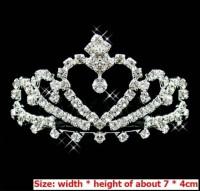 Crown Crystal Tiara mahkota Gaun Pengantin Wedding Dress pesta Import