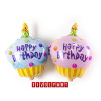 "Balon Foil Cake Mini Happy Birthday ""1 Lilin"""