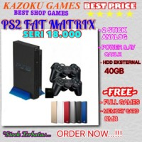 Ps2 fat Metrix seri 18.000 HDD40gb full game terbaru