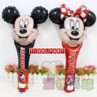 Balon Foil Tongkat Mickey & Minie