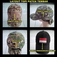 Topi Patch Tembak (Army, Loreng, Hitam) / Air Soft Gun