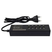 Wellcomm 5 Ports USB Charger 7 A - Black