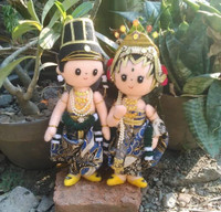 Boneka flanel couple pengantin 20cm