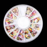 3D Fimo Nail Art Cup Cakes Ice Cream