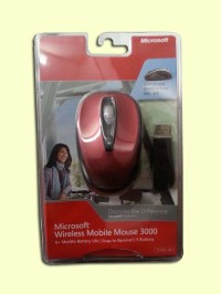 Microsoft Wireless Mobile Mouse 3000 (Red)