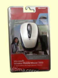 Microsoft Wireless Mobile Mouse 3000 (White)