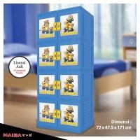 Lemari Plastik Naiba - Kabinet tipe Minion 8684 D ( Susun 4 Kunci )