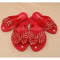 sandal couple polka red