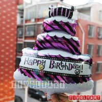 Balon Foil Cake Mini 3 Tk