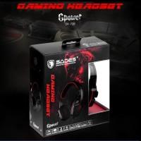 Sades Gpower SA 708 / SA708 warna MERAH Gaming Headset ORIGINAL