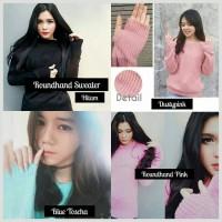 Jual Baju Sweater Korea Rajut Wanita Roundhand Sweater Murah