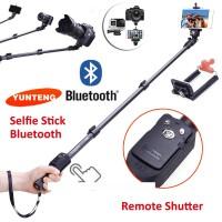 Hot! Yunteng Yt-1288, Monopod / Tongsis Bluetooth + Tombol Shutter, Su