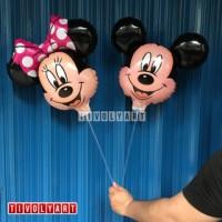Balon Tongkat Mickey & Minnie / Balon Stik Mickey & Minnie