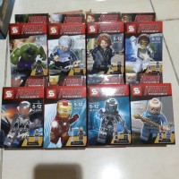 lego china quicksilver, ultron, black widow, hulk ,ironman