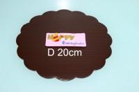 Tatakan cake bulat coklat 20cm, tatakan birthday cake, packaging kue