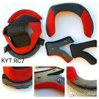 Busa Helm KYT RC Seven RC7 Black Red Fullset 1 Set RC 7 Lengkap