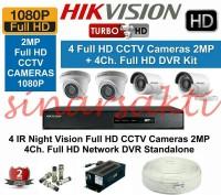 Paket Cctv Hikvision HD 1080p 2mp ( 4 Channel ) Komplit