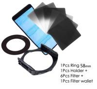 6 Pcs FILTER KOTAK TIPE COKIN P SERIES (ND + GND) + Holder + Ring 58mm