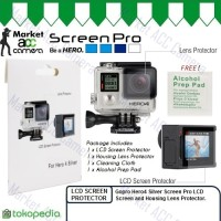 Tempered Glass LCD Screen Pro Protector for GoPro Hero4/Hero 4 Silver