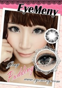 ORIGINAL Softlens Eyemeny Pudding Gray (Abu-abu)
