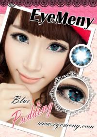 ORIGINAL Softlens Eyemeny Pudding Blue (Biru)