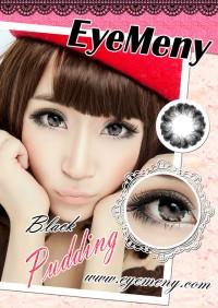 ORIGINAL Softlens Eyemeny Pudding Black (Hitam)