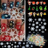 Flower Xmas Nail Art Decal Sticker Christmas Snowflakes - stiker kuku