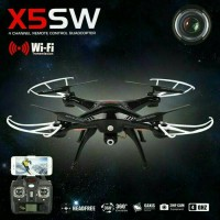 Drone canggih quadcopter sederhana Syma X5SW Wifi HD Camera terbaik