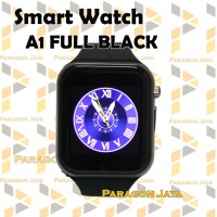 SMART WATCH A1 / SMARTWATCH U10 FULL BLACK SIMCARD MICRO MEMORY CARD