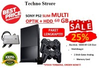 Sony Playstation 2 SLIM OPTIK + HARDISK 60GB + PAKET LENGKAP - PS 2