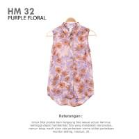 HM CHIFFON SLEEVELESS BLOUSE FLORAL   Pakaian Atasan Wanita Branded