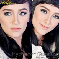 Softlens Avenue Solotica Hydrocor Quartzo (GrayGreen / Abu Kehijauan)