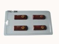 Cetakan Coklat Mika TTC 206 Balok Kayu 4 cav