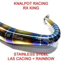 Knalpot Racing RX King RXZ RXS RXKing 3v3 Kolong Telo 2tak Rainbow SS