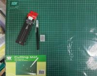 PAKET CUTTING MAT SDI A2 + PEN CUTTER + REFILL