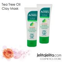 Acnes Tea Tree Oil Clay Mask / Masker Wajah (Untuk kulit berjerawat)