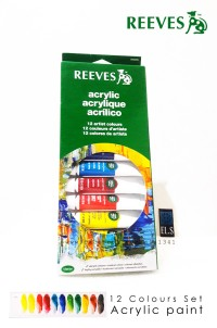 Reeves Acrylic Paint 12 Colours