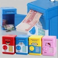 Celengan ATM brankas karakter Hello kitty Doraemon Minion