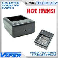 Dual Battery Charger for Xiaomi Yi Battery Baterai