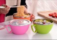 Korea airtight bowl mangkok mie buah kedap udara stainless steel