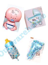 Balon foil baby shower paket - balon baby baby boy paket