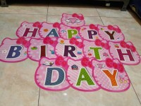 FLAG BANNER HAPPY BIRTHDAY HELLO KITTY